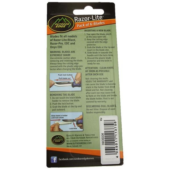 Outdoor Edge Razor-Lite Replacement Blades ( Ersatzklingen)