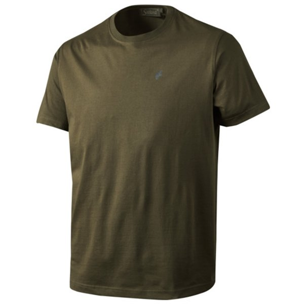 Seeland Basic T-Shirt 3er-Pack pine green/ faun major...