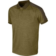 Härkila Tech Polo Shirt dark olive/willow grün Herren