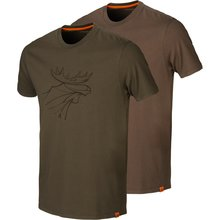 Härkila Graphic T-Shirt 2-Pack green/brown Herren