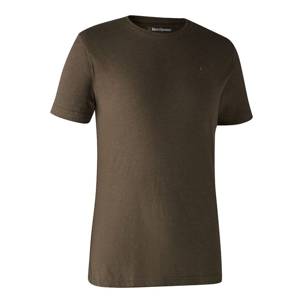 Deerhunter T-Shirt Basic O-Neck 2-Pack braun / grau Herren
